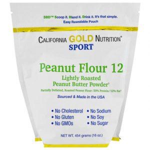 California Gold Nutrition, CGN, ピーナッツバター粉末、脂肪分12%、グルテンフリー、16オンス (454 g)