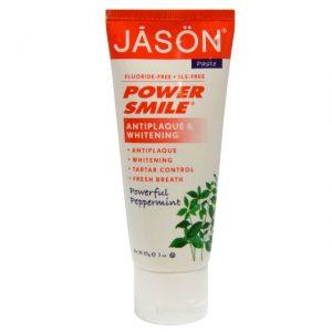 Jason Natural, パワースマイル, 抗歯垢&ホワイトニング歯磨き粉
